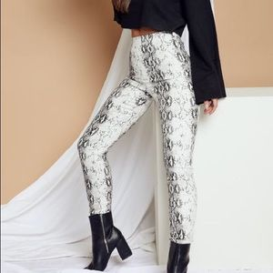 Iuna b white snake pants